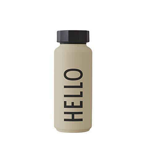 Design Letters Trinkflasche/Isolier Flasche (Beige) 500 ml.