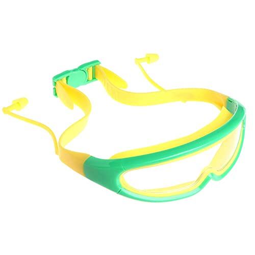 Asirclud Gafas de natación para niños, de visión ancha, antivaho, para niños, para buceo, para niños de 3 a 15 años, adolescentes y niñas (verde)