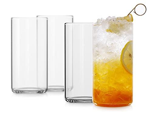 LUXU Drinking Glasses 19 oz, Thin Highball Glasses...