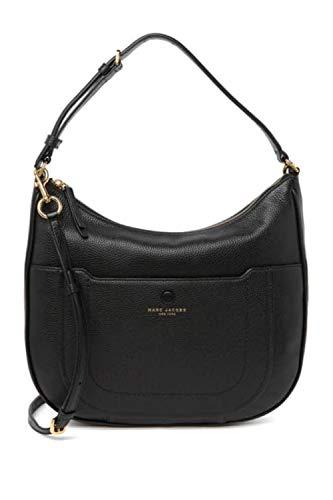 Marc Jacobs M0016395 Damen Leder Hobo Crossbody Bag schwarz/gold Hardware