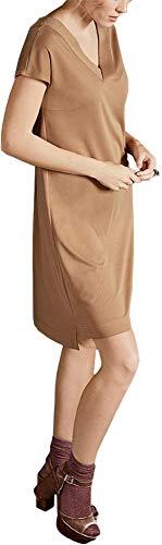 Esmara Premium Collection by Damen Kleid mit Lenzing Modal, Kurzarm (haselnuss, Gr. S 36/38)