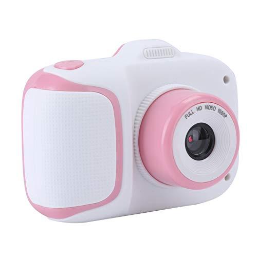 FOLOSAFENAR Cámara de Juguete para niños de 2.0 Pulgadas Cámara de Video para niños Linda Estructura Estable Uso Duradero para 10 Idiomas(Pink)
