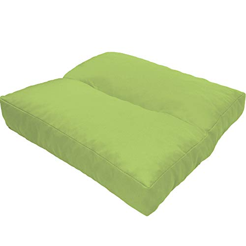 DILUMA Coussin d'assise LoungeWave pour Jardin - Coussin Outdoor Anti-salissants pour bancs, sièges en pallete, Chaise de Jardin, Taille:40 x 40 cm, Couleur:Citron