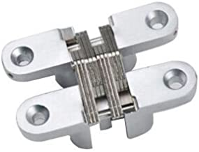 Ranbo ( Pack of 2) hidden gate hinge stainless steel Invisible door hinges concealed barrel wooden box silver (3-3/4 inch)