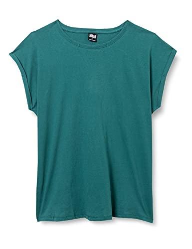 Urban Classics Urban Classics Damen Ladies Extended Shoulder Tee T-Shirt, teal, 3XL