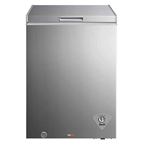 Avanti CF351D2P Platinum Finish 3.5 Cubic Foot Chest Freezer with Thermostat and Adjustable Temp Control
