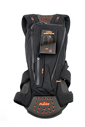 KTM Backpack mit Rückenprotektor, Komperdell. Bitte Grosse auswahlen (MEDIUM (57CM))