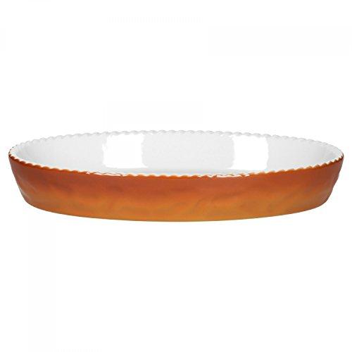 Walküre Auflaufform | 280 x 170 mm | 800 ml | braun | Profi-Kochgeschirr | feuerfest | ovale Backform | Küchen-Zubehör | made in Germany | Gastro