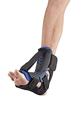 Dorsal Hybrid Night Splint - Orthotic Dorsiflexion Brace for Men and Women - Toe Stretcher, Arch Support - Plantar Fasciitis, Achilles Tendinitis, Heel Spur, Drop Foot, Ankle Pain Relief (SM/MD)