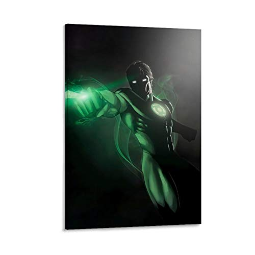 NUOMANAN Canvas Print Wall Art Superhero Green Lantern Anime Movie 16x24inch(40x60cm) Art Poster Wall Art Decoration for Living Room Wall Unframed/Frameable