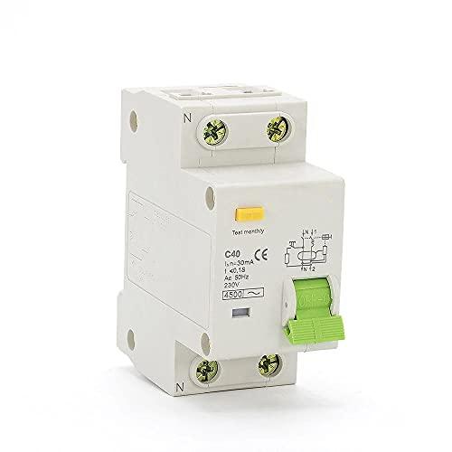 Disyuntor de corriente residual 1P + N 230V 50HZ / 60HZ con protección contra sobrecorriente y fugas RCBO-25A