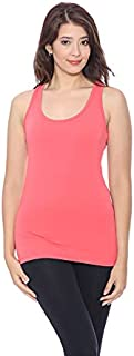 Spiritwear Cotton Scoop-Neck Racerback Solid Slim-Fit Tank Top for Women XL