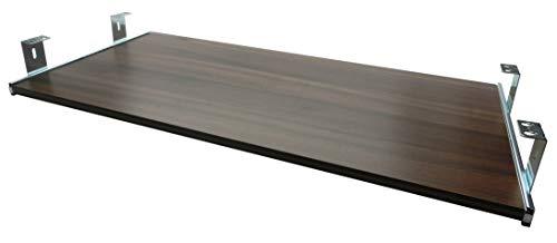 FIX&EASY Tastaturauszug mit Tastaurablage 800X300mm Nussbaum Dekor, Auszugschienen verzinkt 300mm, Set Ablage mit Auszug für Tastatur Maus Keyboard Laptop