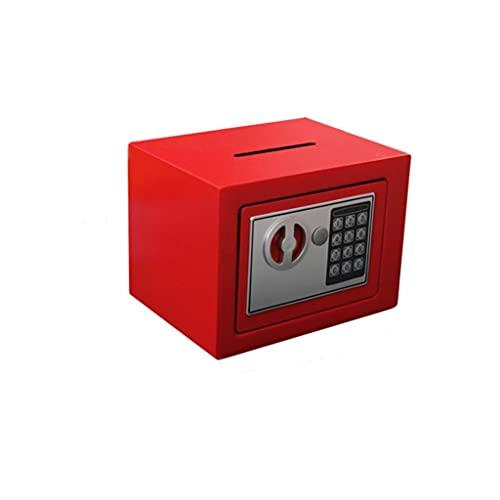 Hucha Contraseña electrónica CÓDIGO CÓDIGO CÓDIGO CÓDIGO LOCK BLOQUEO PIPGY BANK MONEDAS AUTOMÁTICAS DE EFECTOR DE EFECTOR DE EFECTIVO CONTADE MINI Caja de seguridad Banco de Dinero ( Color : Red )