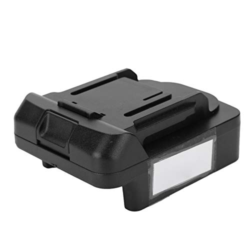 Mxzzand Conexión Conector de alimentación Convert ABS Adaptador de batería Negro 20V para Herramientas Adaptador de batería