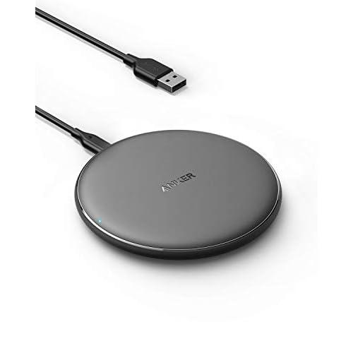 Anker PowerWave - Caricatore wireless da 7,5 W, per iPhone 11/XR/XS/X/8, 10 W, per Samsung Galaxy S20/S10/S9/S9+/S8 (alimentatore non incluso, cavo da 120 cm incluso, colore: Nero