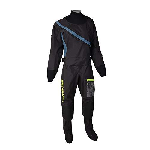 Typhoon Womens Ezeedon 4 Front Zip Drysuit & Free Underfleece 100175 - Black Drysuit Size - ML