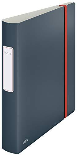 Leitz Qualitäts-Ordner 180° Active, 350 Blatt, 65mm Rückenbreite, Samtgrau, A4, Cosy-Serie, 10390089