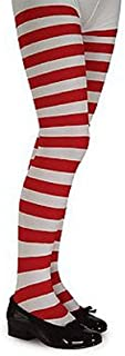 Rubie's Red and White Striped Tights (Girl's Children's Dancewear)