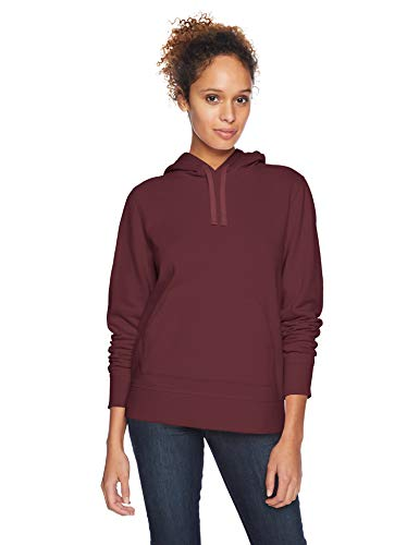 Amazon Essentials – Sudadera de tejido de rizo francés con capucha y forro polar para mujer, Rojo (Burgundy), US L (EU L - XL)