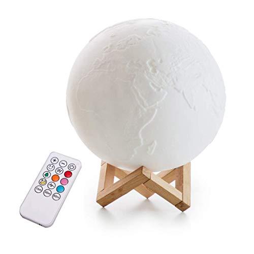 Lampada luna LED LED Light Light Light Temp Touch Control Colorato Light 7 Colore Dimmerabile Portable e Spazio Risparmio for la casa Camera da letto Regalo Luce notturna (Colore: 7 colori Telecomando