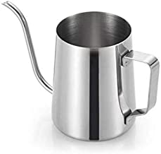 350ml Coffee Kettle Hand Brewed Pour Over Manual Drip Gooseneck Narrow Spout Mouth Maker Stainless Steel Pot(Silver)