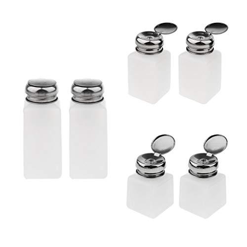 perfeclan 6 Pcs 100/200 /250 ml Flacon Pompe Distributeur Vide Bouteille Dissolvant de Vernis Liquide pour Démaquillant Récipient Vide Cosmétique