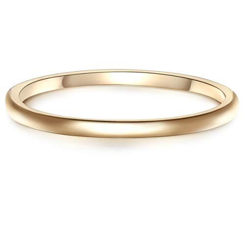 Glanzstücke München Damen-Ring Sterling Silber gelbvergoldet - Goldring Steckring Vorsteckring Stapelring