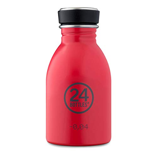 24BOTTLES Urban Bottle 250ml Flasche, Erwachsene Unisex, Rot (Rot)