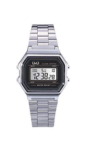 Q&Q Men's' M173J001Y Digital Watch with Stainless Steel Band