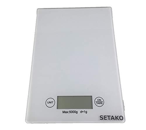 SETAKO 勢田工業 1g単位で最大5kg計量 デジタルスケール キッチンスケール 精密はかり 電子秤 簡易日本語説明書付 (ホワイト)