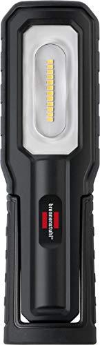 Brennenstuhl LED Akku Handleuchte HL 700 A / LED Arbeitsleuchte für außen IP54 (700+100lm, inklusive USB-Ladekabel, bis zu 10h Leuchtdauer, LED Werkstattlampe mit Magneten und Haken)