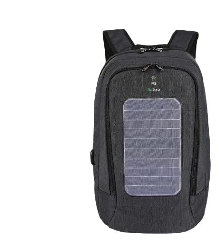 PSF NATURA - Mochila solar, carga smartphone, objetos conectados, ordenadores, mochila con panel solar