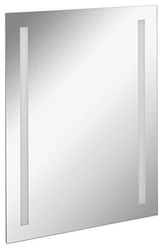 FACKELMANN LED Spiegel linear Mirrors/Wandspiegel mit LED-Beleuchtung/Maße (B x H x T): ca. 60 x 75 x 2 cm/hochwertiger Badspiegel/moderner Badezimmerspiegel/Breite 60 cm