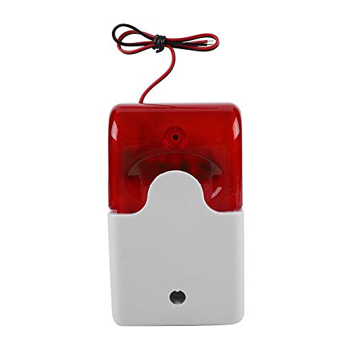 Kabelgebundenes Blinklicht Strobe Sirene DC 12 V Alarm Rotes Licht Sound Sirene Home Security Alarm System