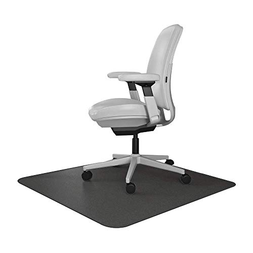 Resilia Office Desk Chair Mat – for Carpet (with Grippers) Black, 30 Inches x 48 Inches, Made in The USA