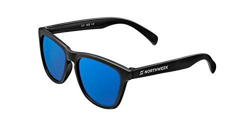 NORTHWEEK Kids Ocean, Gafas de Sol para Niño y Niña, Polarizadas, Negro/Azul