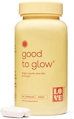 Love Wellness Good to Glow - Skin Care Supplement - Collagen & Biotin – 60 Count - Supports Glowing Skin - Enhances Smoothness, Reduces Wrinkles - Safe & Effective Daily Supplement