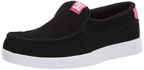 DC Women's Villain 2 Skate Shoe, Black/Crazy Pink, 5.5