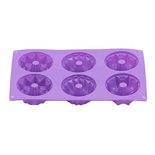 MAJFK - Molde de silicona para magdalenas (6 cavidades)