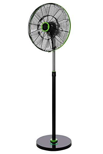 Orbegozo SF 0248 - Ventilador de pie silencioso, mando a distancia, 18 aspas, 45 cm de diámetro, 90 W, negro y verde