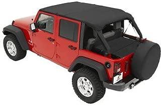 Bestop Bikini Top Combo for Jeep Wrangler JK Unlimited 2010-15 - Includes Header Safari Bikini 5258435 & Windshield Channel