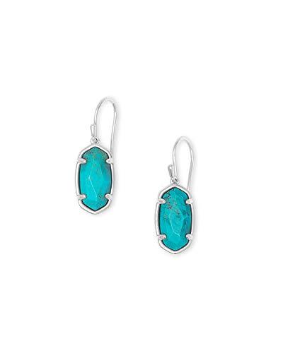 Kendra Scott Lee Drop Earrings in Sterling Silver, Genuine Turquoise Gem, Fine Jewelry for Women