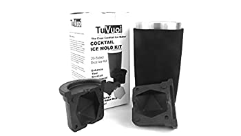 TuVuoi CRYSTAL CLEAR LARGE d20 DICE CRAFT ICE MAKER MOLD- Choose from 5 different shapes Sphere Golf Ball Diamond Craps Dice or Board Game Dice Whiskey Bourbon Cocktails Designed in USA.