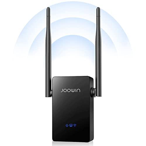 JOOWIN Répéteur WiFi 2.4GHz Amplificateur WiFi Puissant WiFi Signal Extender 300Mbps Booster sans Fil WiFi Compatible AP/Routeur/Mode Pont avec WPS,WiFi Repeater avec Port LAN/WAN et 2* 5dBi Antenne