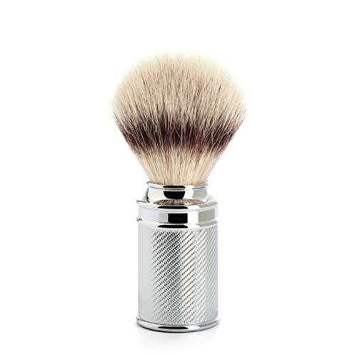 MÜHLE - Rasierpinsel Silvertip Fibre® - Metall verchromt/feine Ziselierung