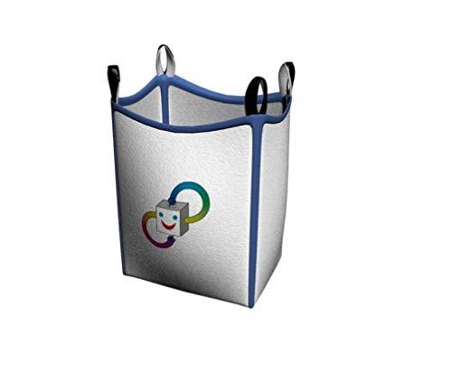 Olsen Store Big Bag - Contenitore tipo DIN EN ISO 21898, con 6 passanti, 90 x 90 x 90 cm, carico di rottura 5000 Kg