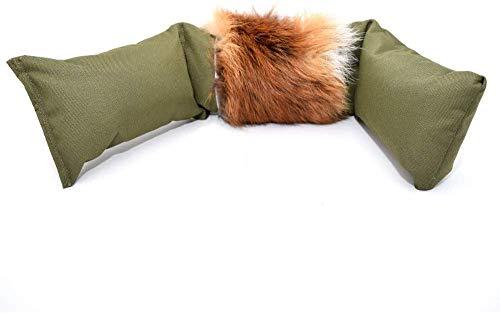 Firedog Fuchsdummy | Dummy mit echtem Fuchsfell | Dreiteilig für das Apportiertraining | 4000g