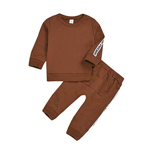 Hui.Hui Vêtements Garçons Fille Sweats à Capuche Manches Longues Haut Tosp Sweat-Shirt et Tenues de Pantalon Long Ensemble Outfit Costumer pour 1-5 Ans