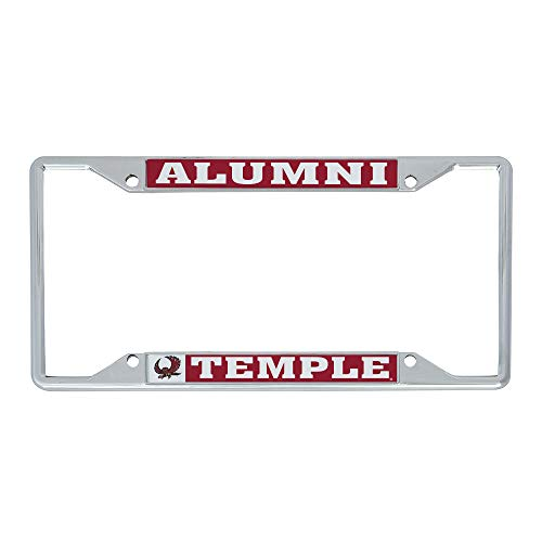 Desert Cactus Temple University Owls NCAA Metal License Plate Frame for Front or Back of Car Officially Licensed (Alumni)